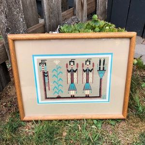 VTG 80s Needlepoint Navajo/Southwest Wall Art